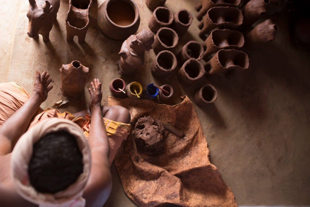 pottery, village tour, pottery making, pollachi papyrus, thadam experiences, clay, puravipalayam