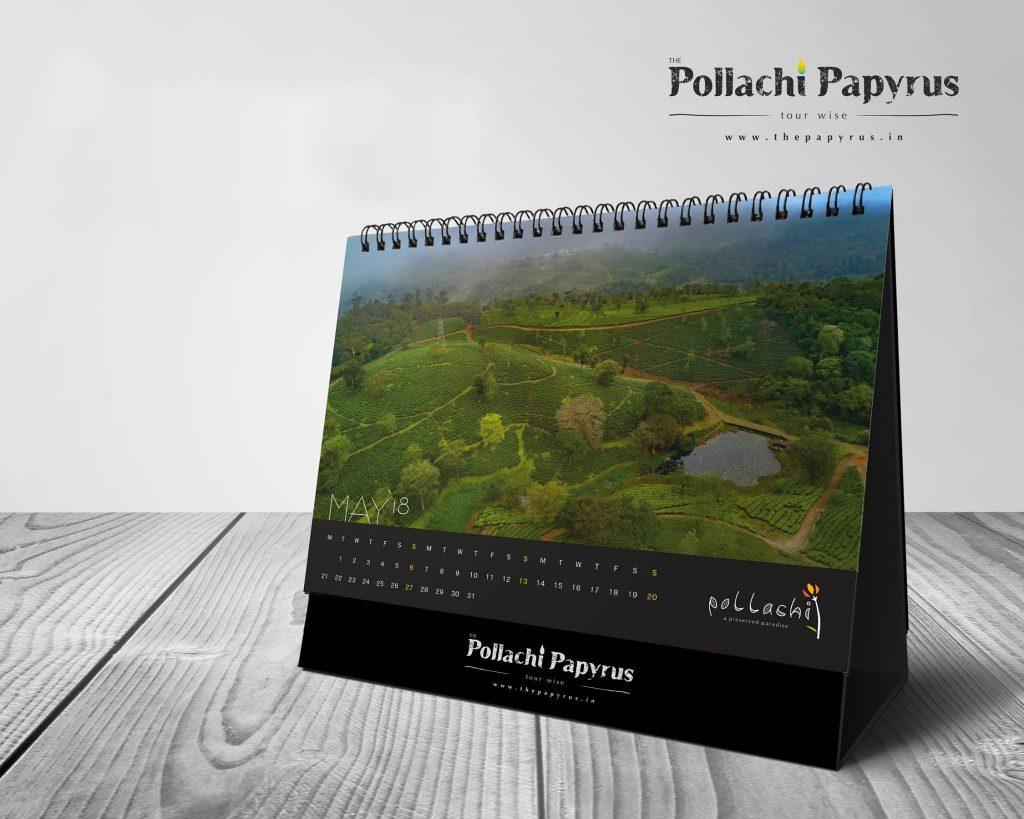 Pollachi Desktop Calendars, yearly calendars, calendar 2018, pollachi, pollachi papyrus, drone photography, drone, aerial photography, landscape, coconut farms, valparai, anamalais, anamalai tiger reserve, sethumadai, aliyar, topslip, chinnar, thirumoorthy dam, kayak, canoe, camp splendour